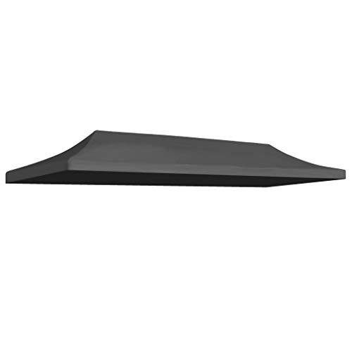 UnfadeMemory Partyzeltdach Zeltdach Ersatzdach Oxfordgewebe mit PVC-Beschichtung Partyzelt Überdachung UV- und Wasserbeständig Ersatzteil für Pop-Up Faltzelt (3 x 6 m, Anthrazit)
