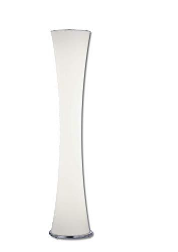 NEU: weiße LED Stehleuchte 4400lm mit Tastdimmer aus Triplex Opalglas