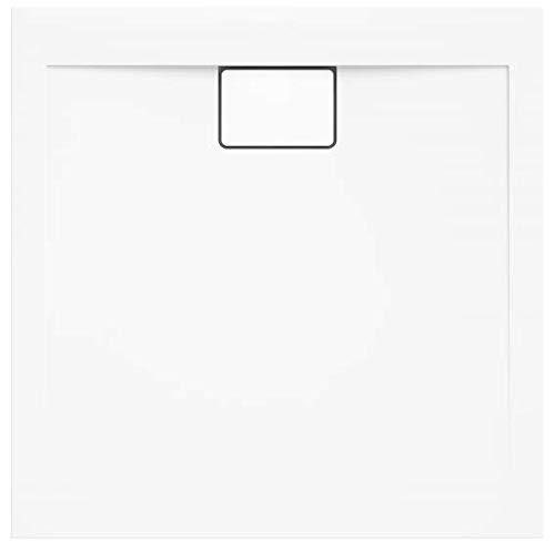 VBChome Duschwanne 100 x 100 x 4,5 cm sehr Flach Sanitär-Acryl Hochwertige Glasfaser verstärkte Wanne Form: Quadratisch Eckig Weiß Alpineweiß Hochglanz Aufbau-Höhe: 4,5 cm