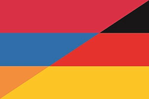 U24 Aufkleber Armenien-Deutschland Flagge Fahne 8 x 5 cm Autoaufkleber Sticker