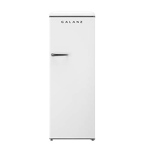 Galanz GLF11UWEG16 Convertible Freezer/Fridge, Electronic Temperature Control, 11 Cu.Ft, Retro White