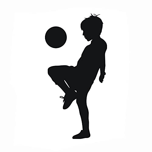 Wandtattoo für Kinderzimmer, Motiv Fußball / Basketball, Wanddekoration Playing boys football