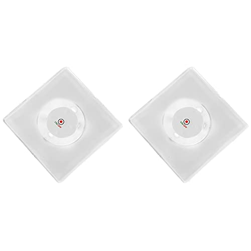 Posavasos LED transparente, 2 unidades, pegatinas LED desechables de encendido/apagado, posavasos luminosos...