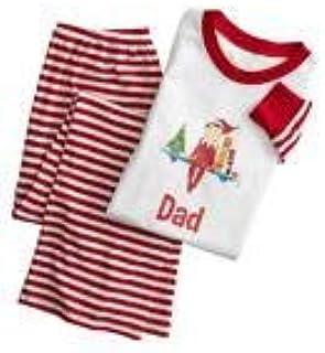 zhibeisai Padre-Hijo Pijamas Set impresión de la Pijama a Cuadros Raya Navidad de la Familia Ropa de poliéster Familia Vestimenta, Hombre, XXL 5