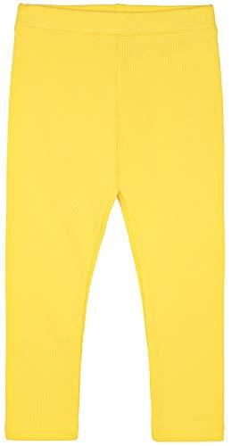 Leggings femininas básicas lisas de algodão macias de comprimento total da Lilax, Amarelo, 6