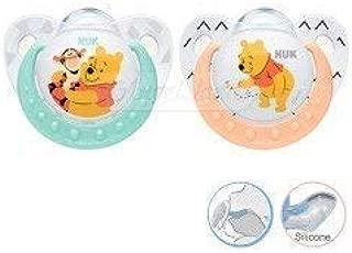 Nuk Winnie The Pooh Silicona Chupete 2 IN Paquete Edad 6-18m ...