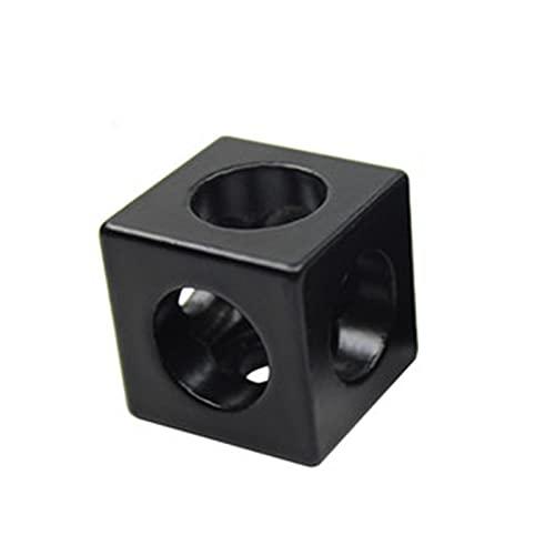 XINGFUQY 4pcs / Lot 2020 Blocco di Alluminio Cubo Prisma Connettore del connettore Ruota regolatore Angolo V-Slot Connettore a Tre Vie 90 Gradi Angolo (Color : A)