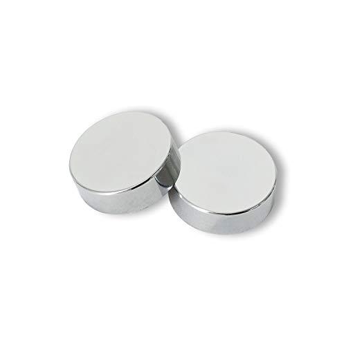 companyblue Two Chrome Cover Cap for Towel Rail Radiator for blanking plug and bleeding valve