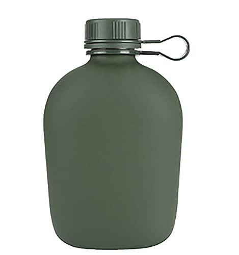Nealpar Campo de Deportes Botella de Agua de Marcha Plana al Aire Libre de Gran Capacidad Portátil de Aluminio Antigua Botella de Agua Termal Individual
