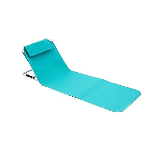 N\C Silla plegable portátil al aire libre sentado y reclinable de doble propósito, silla de pesca trasera, reclinable de camping al aire libre, silla de descanso de almuerzo, silla de playa agua azul