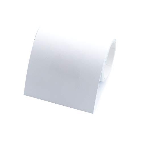 1 Rolle Bordüre selbstklebend, 4cm breit & 5m lang, für die Wand in Wohnzimmer & Schlafzimmer (weiß)