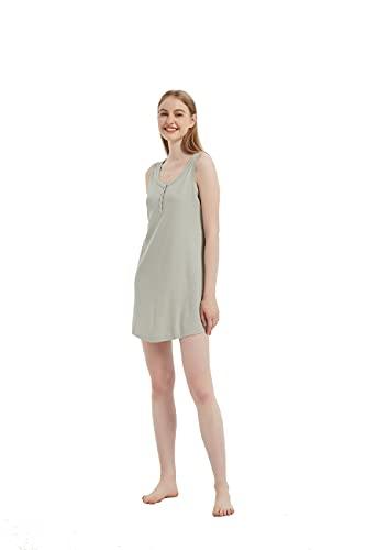 PimpamTex – Letnia sukienka dla kobiet, koszula nocna na plażę, basen i do domu, letnia bluzka ze 100% puszystej i oddychającej bawełny