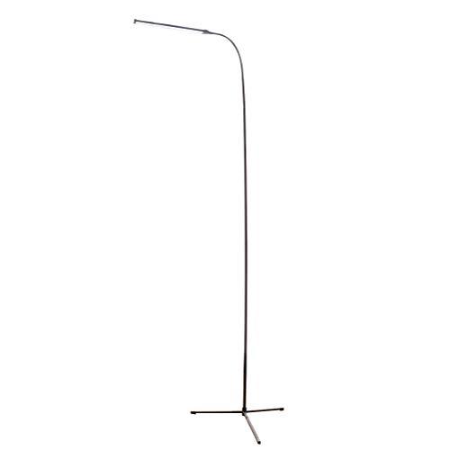 OSALADI - Lámpara de pie LED Corta, con Interruptor, Funcionamiento por USB, Regulable, lámpara estándar para salón, Dormitorio (Color Negro)