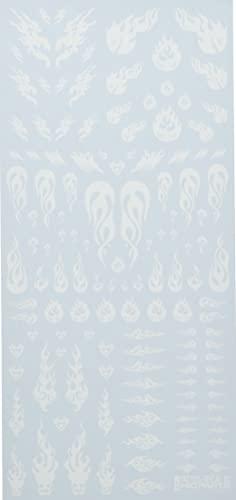 ハイキューパーツ タトゥーデカール03 ファイア ホワイト 1枚入り プラモデル用デカール TTD-03-WHI