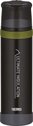 THERMOS Edelstahl-Thermosflasche 900ml Mountain schwarz, Isolierflasche mit Becherhält 24 Stunden heiß oder kalt, Trinkflasche absolut dicht, bruchfest, spülmaschinenfest, BPA-Frei, 4015.232.090