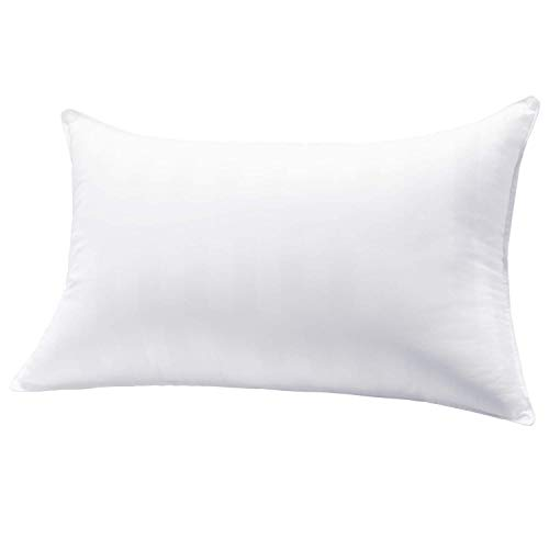 MASVIS Bed Pillow 100% cotton Fabric standard size Hypoallergenic Pillow for Back Stomach and Side Sleeper