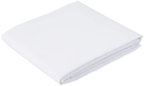 Dalston Mill Fabrics - Tessuto in Policotone (65% poliestere/35% Cotone), 2 m, Colore: Azzurro, Bianco, 2
