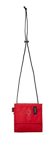 MILESTO ミレスト パスポートケース 首下げ パスポートカバー スマホ収納可 ストラップ長 軽量 撥水 Utility 14.5 cm MLS617 (レッド)