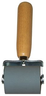 """Dynamat 10007 Dyna-Roller Professional Heavy Duty Sound Deadener Installation Tool with Wood Handle and 2"""" Wide Rubber Roller"""
