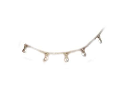 No se ve larga cadena de perlas mini gargantilla, delicada gargantilla con perlas, collares colgantes de perlas, collar delicado, collar de perla, collar dorado
