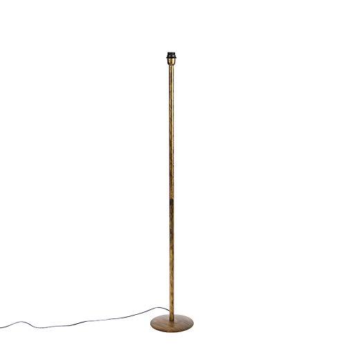 QAZQA Modern Klassieke vloerlamp goud zonder kap - Simplo Metaal Langwerpig Geschikt voor LED Max. 1 x 60 Watt