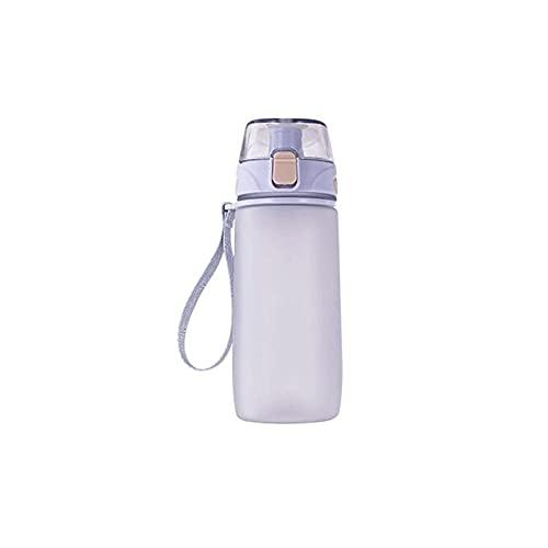 Pnzbvltrslb Botella Agua, Botella de Agua portátil, Botella de Bebidas de 550 ml, Taza con cordón para la Escuela y al Aire Libre. (Size : Small)