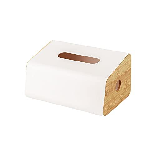 Wowlela - Contenitore per fazzoletti bianchi, rettangolare, con adesivo multiplo e metodi di installazione per casa, ufficio, bagno, vanità, controsoffitti auto