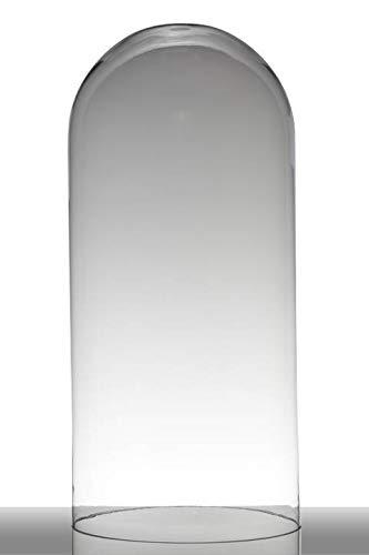 INNA-Glas Campana de Cristal Adelina, cilíndrica - Redonda, Transparente, 62cm, Ø 28cm - Recipiente de Cristal - Campana de Cristal Grande