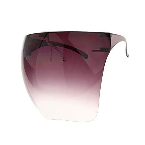 F Fityle Gafas Protectoras con Pantalla Facial de Gran Tamaño Gafas con Tapa Plana Reutilizable Impermeable Fácil Limpieza Ligero a Prueba de Polvo a Prueba de - púrpura