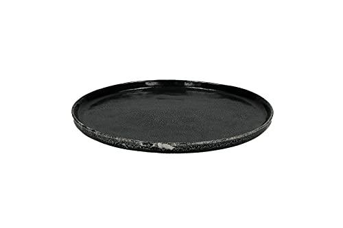 Assiette à dessert noire Porcelino Experience | ssiette à dessert en grès, robuste et pratique.