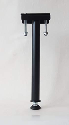 Pie de cama central / pie de refuerzo / pie de apoyo para somier | Altura: de 33 a 36 cm – Negro (PC350R)