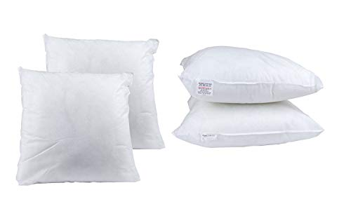 BEDWAY 17' x 17' Cushion fillers Hollowfibre Filling Cushion Inserts Pads Non Allergic (43cm x 43cm) -Pack of 4