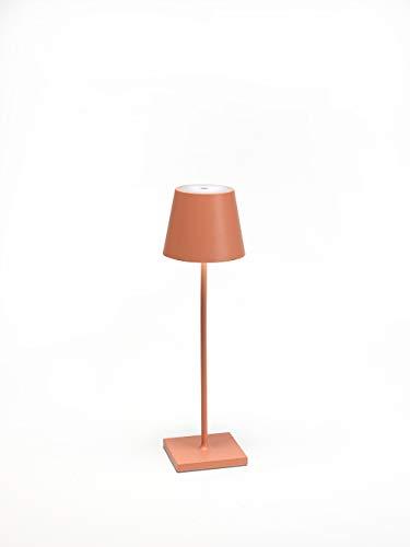 Ai Lati Poldina Orange LED-Tischlampe 2W 3000K wiederaufladbar IP54 für Außenbereiche