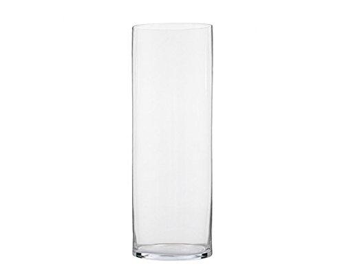Zelda Bomboniere Cilindro in Vetro Trasparente Diametro 15 Cm Altezza 60 Cm