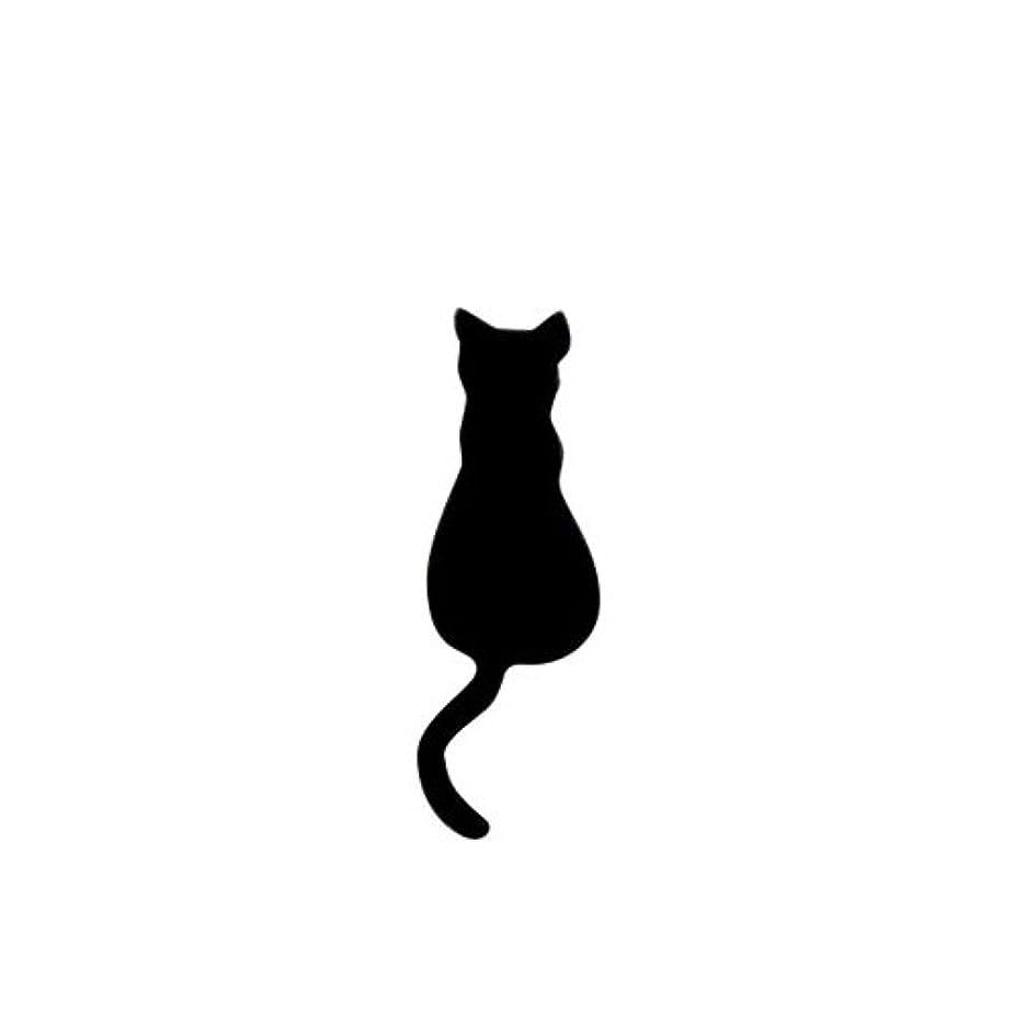安全でないずっとドラゴンリトルプリティー ネイルアートパーツ 猫4 ブラック 10個