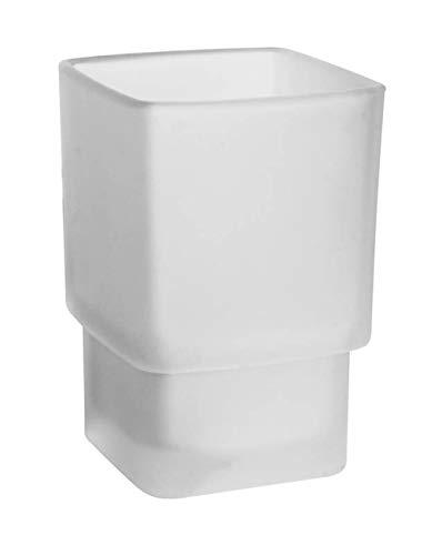 Emco 52000090 Mundspülglas, für Relingsystem Loft/Trend, Glas satiniert, ohne Halterung, Zahnbürstenhalter
