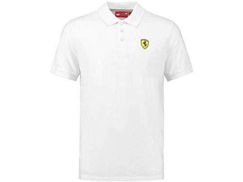 FERRARI Scuderia F1 Classic Poloshirt weiß Formel 1 Fan Jersey Shirt Trikot, Größe:S