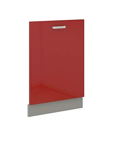 Küchen-Preisbombe Frontblende für vollintegrierten Geschirrspüler 60 cm Rose Hochglanz Rot