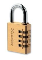 MASTER LOCK - 604EURD - Zahlenschloss mit Messing Finish 40mm