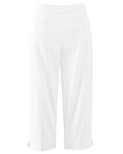 Alfred Dunner Women's Classic FIT Allure Clam Digger Pant, White, 18