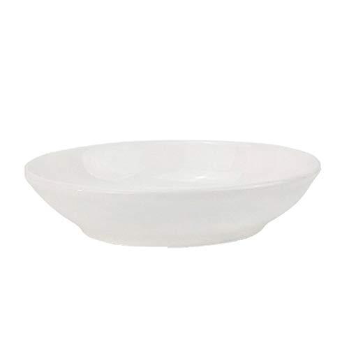 Plato de Salsa Cuencos de cerámica conjuntos de cuencos de 10 ronda Snack Sirviendo platos para platos de soja salsa sal sales pequeños cuencos suministros de cocina blanco Cuencos para Salsas
