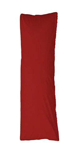 Bellana Seitenschläferkissen Bezug Stillkissen Mako Jersey 40x140 cm Farbe: rubin