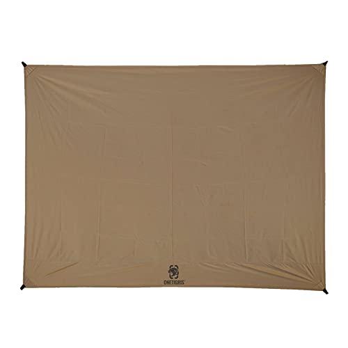 OneTigris Housse de sol pour tente de tente - Bâche imperméable - Tapis de sol pour 2 personnes - Motif empreintes de pieds
