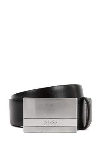 BOSS Herren Baxton Gürtel aus italienischem Leder mit Logo-Koppelschließe