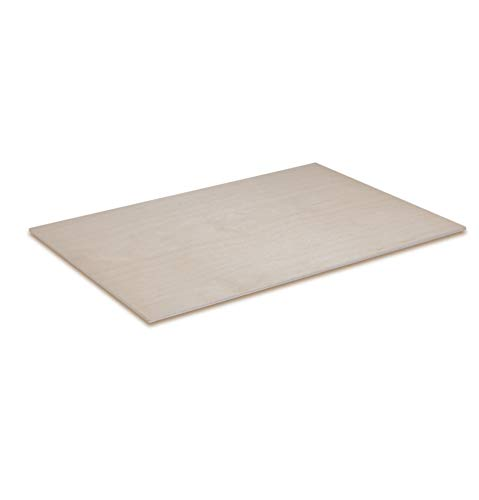 Creative Deco 1 x A4 Holz-Platte | 300 x 210 x 3 (+/- 0,5) mm | Dünne Sperrholz-Zuschnitte | Perfektes Blatt für Laubsäge, Brandmalerei, Laserschnitt, CNC Router, Durchbrochenes