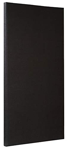 ATS Acoustic Panel 24x48x2 Inches, Beveled Edge, in Black