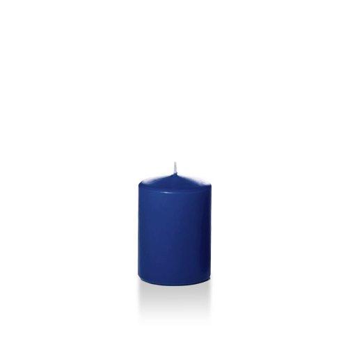 Yummi 3' x 4' Navy Blue Round Pillar Candles - 3 per Pack