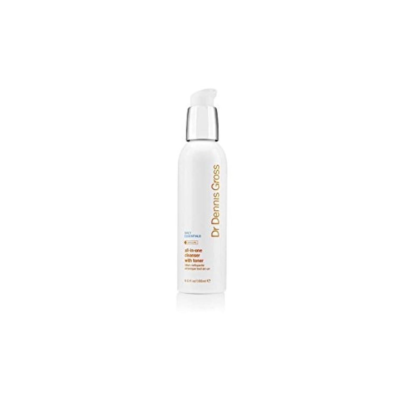 レタッチ流行放射するDr Dennis Gross All-In-One Facial Cleanser With Toner (180ml) (Pack of 6) - デニスグロスオールインワントナー(180ミリリットル)とフェイシャルクレンザー x6 [並行輸入品]