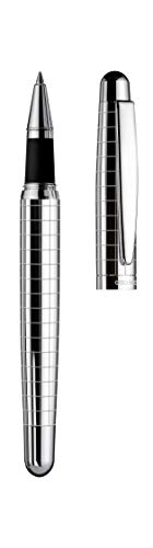 Otto Hutt Design 02 - Bolígrafo de punta redonda, cuerpo y tapa (plata de ley...