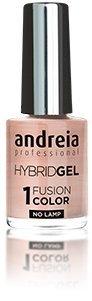 Esmalte de uñas de gel profesional de Andreia, 2 pasos y no requiere lámpara, larga duración y fácil de quitar, color de fusión H49 natural, tonos de nudos metálicos, tonos suaves rosa y rojo